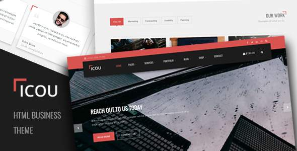 Icou - Responsive Business HTML Template            TFx Origen Genghis