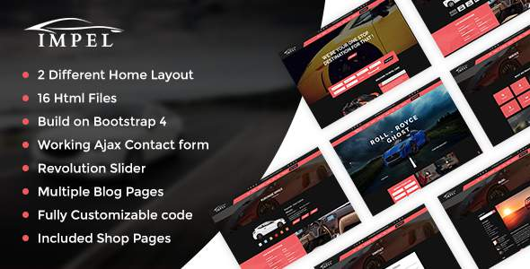 Impel Car Dealer Responsive HTML Template            TFx Chandler Sheard