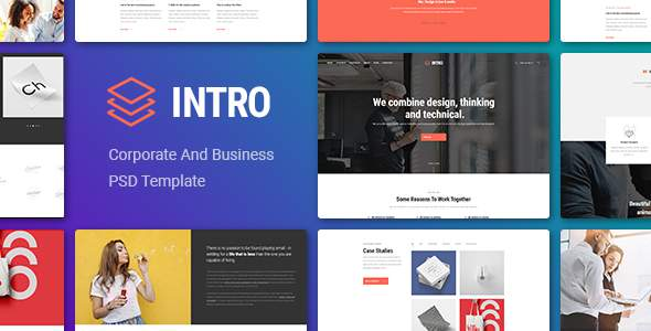 Intro - Corporate And Business PSD Template            TFx Jun Amaru