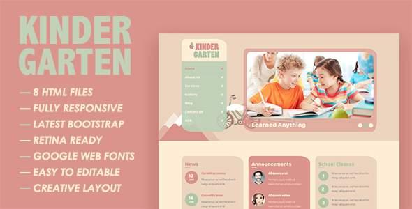 Kindergarten HTML Template            TFx Seth Sora