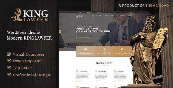 Kinglaw – Attorney & Lawyer WordPress Theme            TFx Jirair Colin