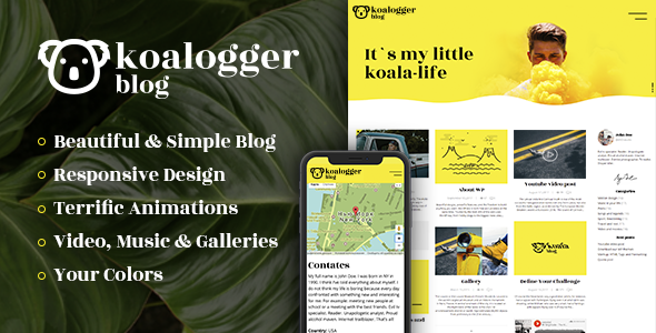 Koalogger - Simple WordPress Blogging Theme + RTL            TFx Harlow Paul