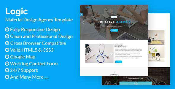 Logic - Material Design Agency Template            TFx Trueman Jeremy