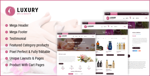 Luxury Spa Beauty OpenCart Theme            TFx Ryou Albin