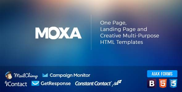 MOXA - One Page, Landing Page and Creative Multi-Purpose HTML Templates            TFx Domenic Goodwin