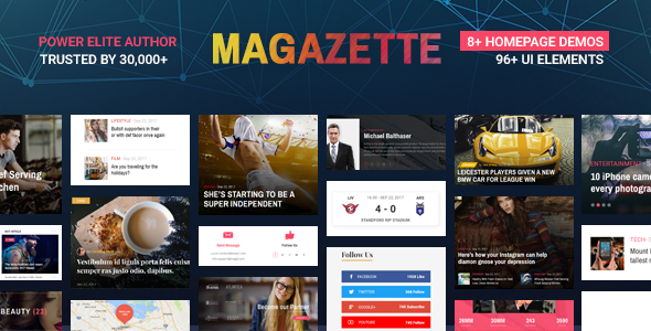 Magazette Magazine - News Blog & Magazine WordPress Theme            TFx Reagan Hovik
