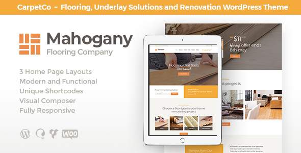 Mahogany | Flooring Company WordPress Theme            TFx Auberon Tranter