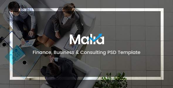 Malia - Finance, Business & Consulting PSD Template            TFx Wapasha Theodoric