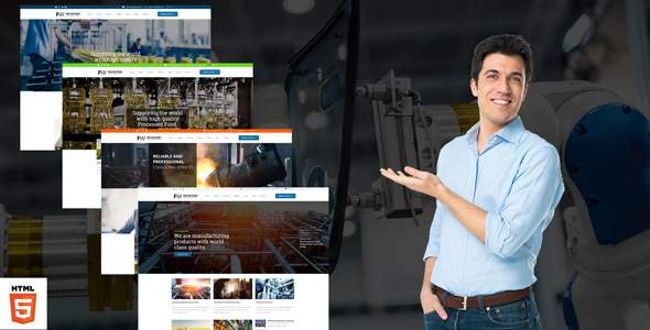 Manufacturing - Factory & Industrial Business HTML Template            TFx Ali Edvard