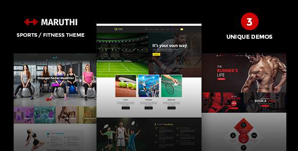 Maruthi - Fitness WordPress Theme            TFx Edric Darrin