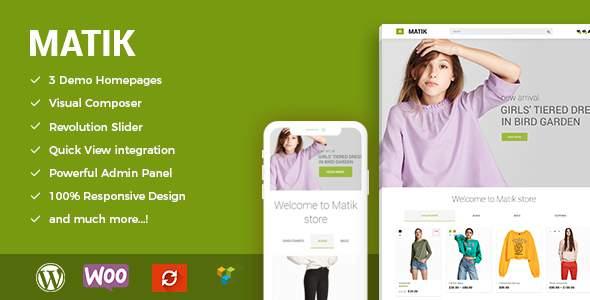 Matik - Minimalist WooCommerce WordPress Theme            TFx Jade Baz