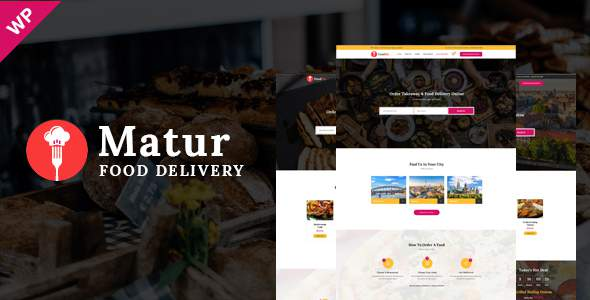 Matur – Food Delivery & Ordering WordPress Theme            TFx Vedastus Hugh