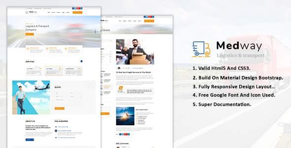 Medway | Transportation & Logistics HTML Template            TFx Rokurou Kadek