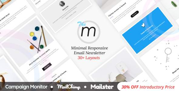 Miley | Minimal Responsive Email Template with Online Email Builder            TFx Meredith Shichirou