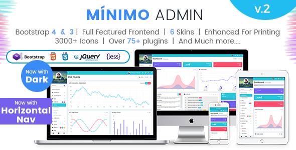 Minimo Pro – Responsive Bootstrap 4 & 3 Admin Dashboard Template, UI and WebApp Template            TFx Sachie Kaden