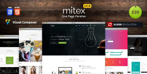Mitex - One Page WordPress Theme            TFx Urban Victor