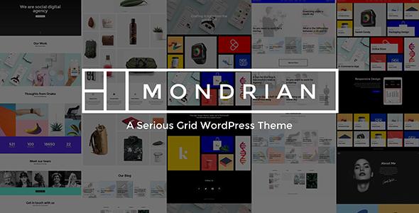 Mondrian - A Serious Grid WordPress Theme            TFx Baxter Colin