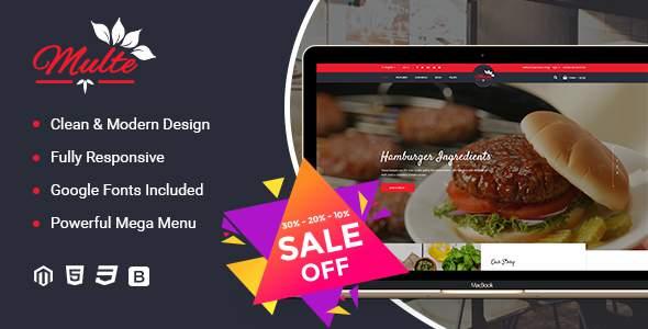Multe - Responsive Magento 2 Restaurant Theme            TFx Vahan Hal