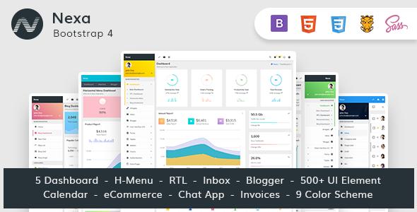 Nexa - Bootstrap4 Material Design Premium Admin Dashboard            TFx Samuel Conner