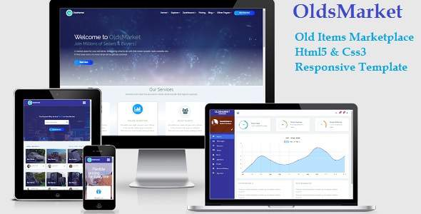 OldsMarket - Old Items Market Place Html5 & Css3 Template            TFx Braiden Irving