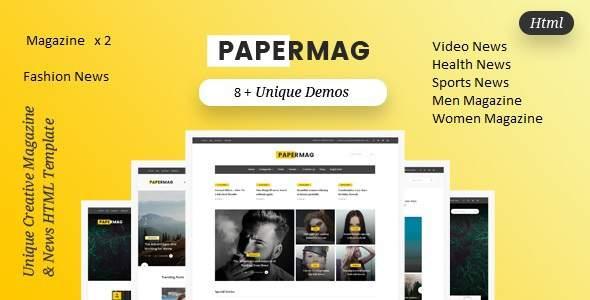 PaperMag & News HTML Template            TFx Jeffery Fenton