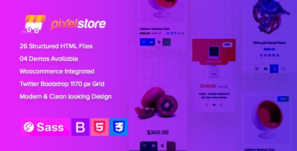 Pixelstore - eCommerce HTML5 Template            TFx Cory Jeffery