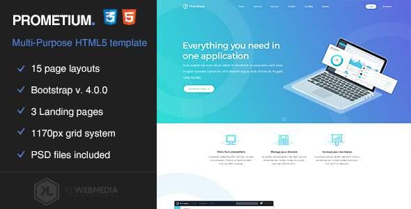 Prometium - Multi-Purpose HTML5 Template            TFx Noboru Parris