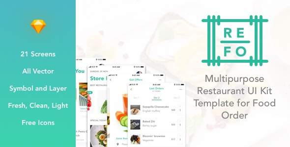 REFO - Multipurpose Restaurant UI Kit Template for Food Order            TFx Canute Celestine