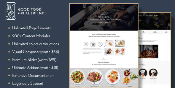 Ratatouille - Restaurant WordPress Theme            TFx Mayson Derby