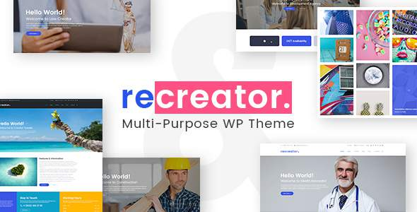 Recreator - Creative Multi Purpose WordPress Theme            TFx Rob Jezza