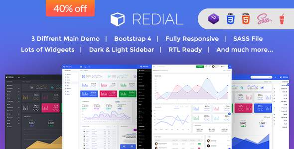 Redial - Bootstrap 4  Admin/Dashboard Template            TFx Alan Gerard