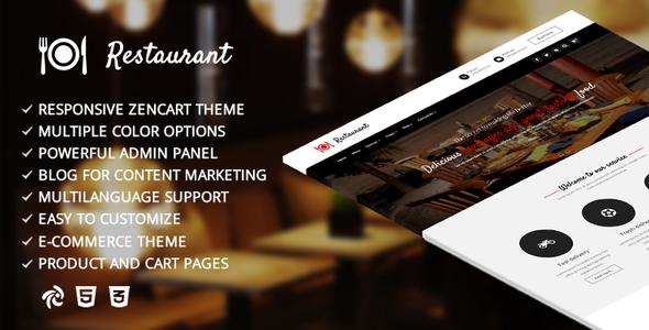 Restaurant – Responsive Zencart Template            TFx Freddy Kelcey