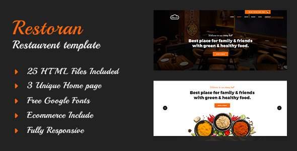 Restoran - Hotel and Restaurant  HTML5 Template            TFx Leo Wilbur