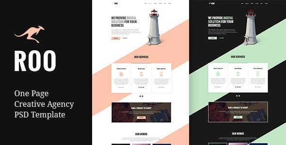 Roo - One Page Agency PSD Template            TFx Jody Quentin