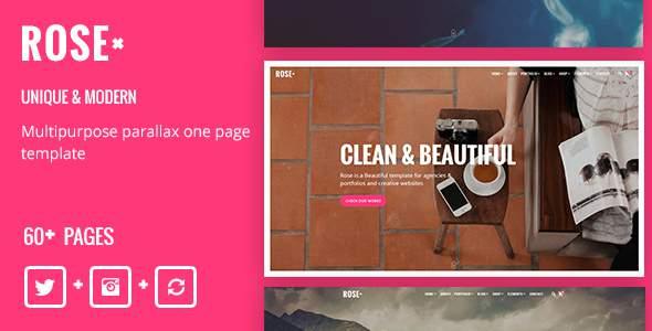 Rose – Multipurpose Responsive One Page Drupal 8 Theme            TFx Ryouta Yoshiro