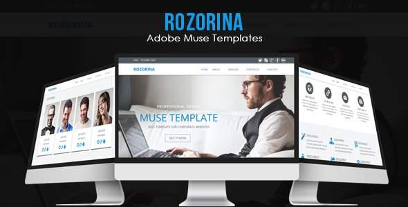 Rozorina Adobe Muse Template            TFx Odeserundiye Colin