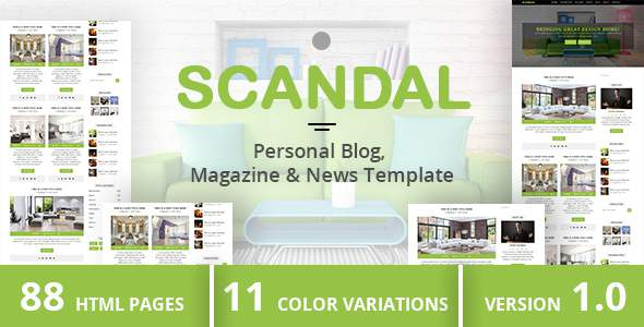 SCANDAL - Personal Blog, Magazine & News Template            TFx Made Wayna