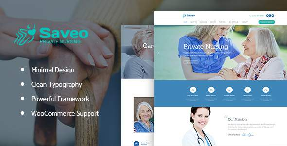 Saveo | In-home Care Agency WP Theme            TFx Kelvin Johnathan