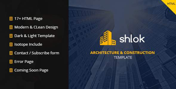 Shlok - Construction and Architect HTML Template            TFx Zavier Austen