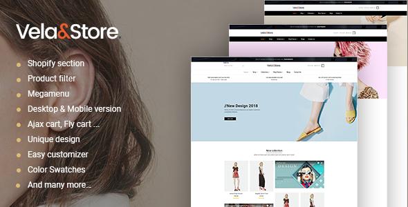 Shopify  - VelaStore  Fashion Multi Concept            TFx Marcus Dre
