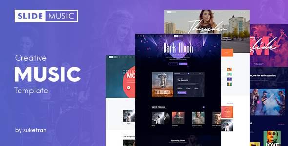 Slide – Creative Music PSD Template            TFx Bonaventure Ferdinand