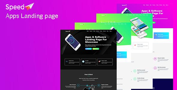 Speed – App Landing Page            TFx Arn Jesse