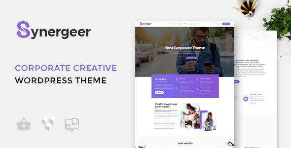 Synergeer - Corporate Creative WordPress Theme            TFx Shannon Julian