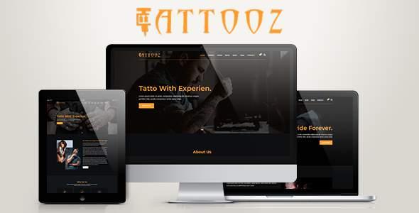 TattooZ - Responsive  HTML5 Template            TFx Fletcher Bret
