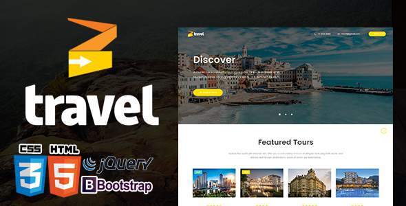 Travel Tour Booking  HTML5  Template Responsive            TFx Gilbert Hiroto