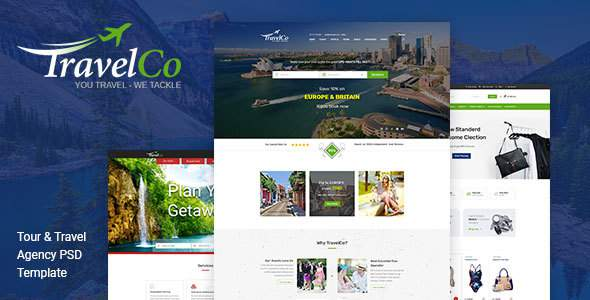 TravelCo - Multipurpose Agency PSD Template            TFx Tod Jordan