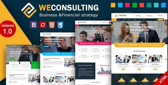WECONSULTING – Financial Business & Consulting HTML Template            TFx Noble Farrell
