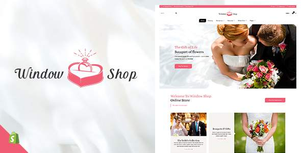 Window Shop - Wedding Shopify Theme            TFx Wahyu Rodge
