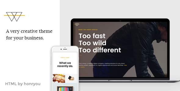 Wrap – Onepage HTML template            TFx Humbert Indigo