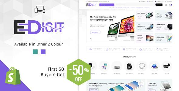 eDigit - Sectioned Multipurpose Shopify Theme            TFx Ryoichi Lothair